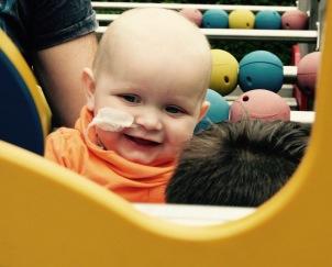 Wessel in de speeltuin :-)