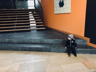 Wachten op het trappetje in het PMC