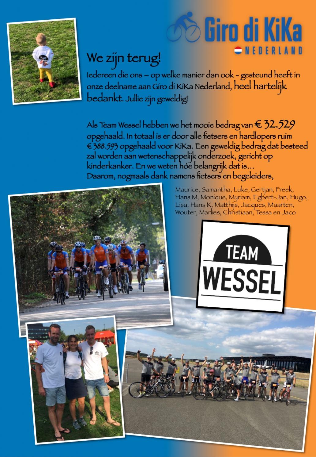 Bedankt - TEAM WESSEL